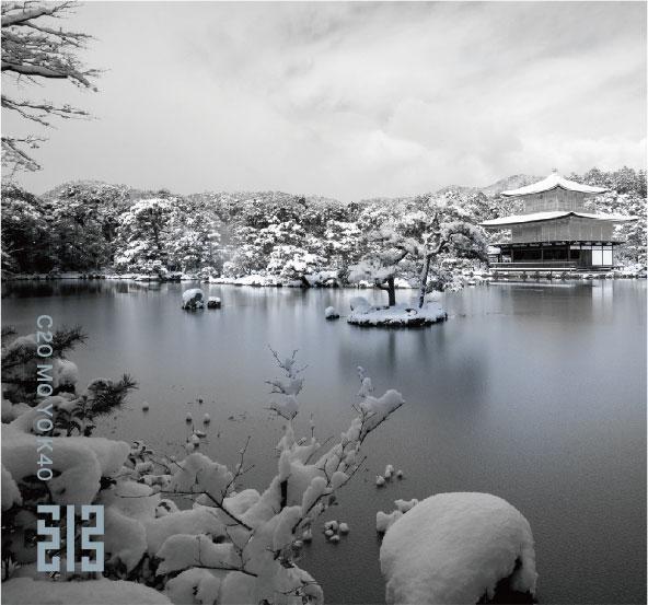 古寺のうすら氷